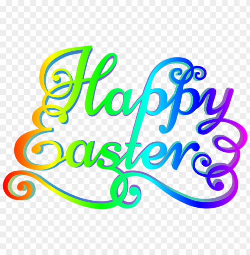 free PNG Download rainbow happy easter transparent png images background PNG images transparent