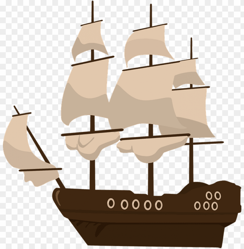 free PNG raphic free sailing ship flower free on dumielauxepices - pirate ship clipart PNG image with transparent background PNG images transparent