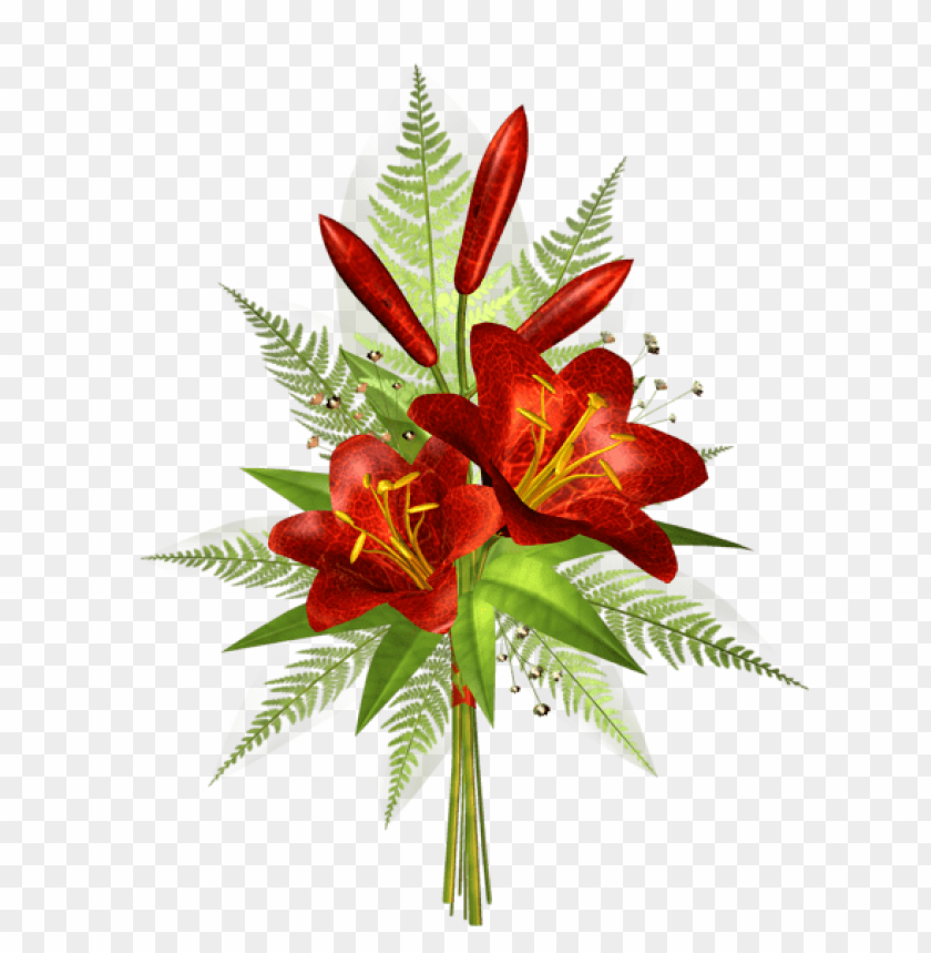 Download Red Flower Decoration Transparent Png Images Background