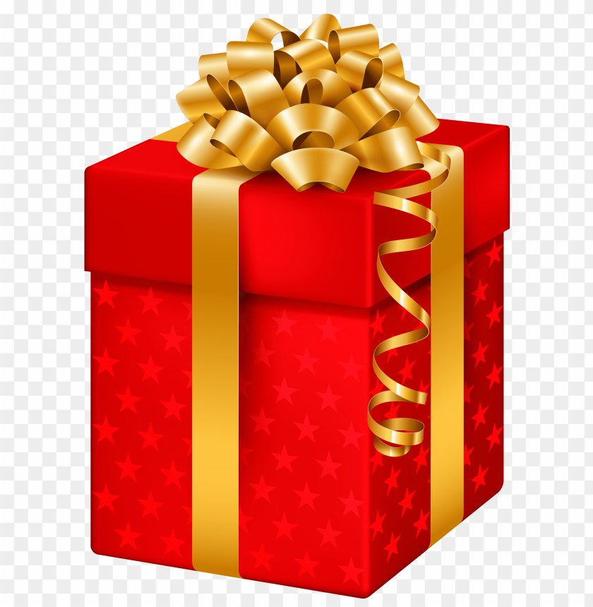 free png red gift box with stars PNG images transparent