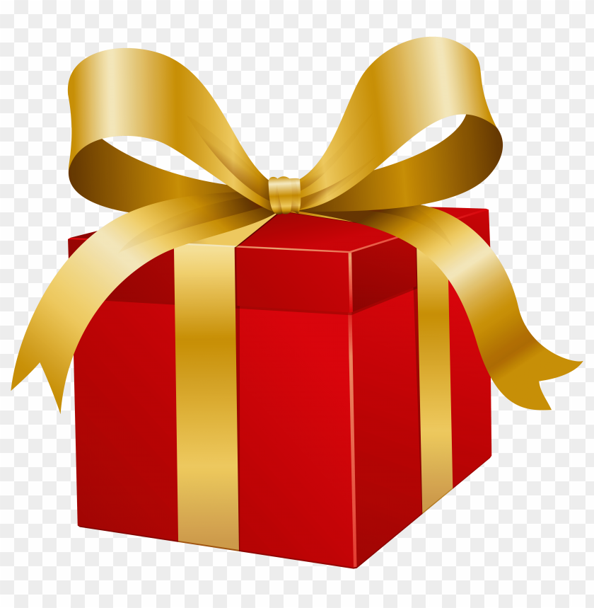 free PNG red present box PNG images transparent