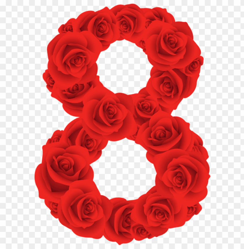 free PNG red roses eight number PNG image with transparent background PNG images transparent