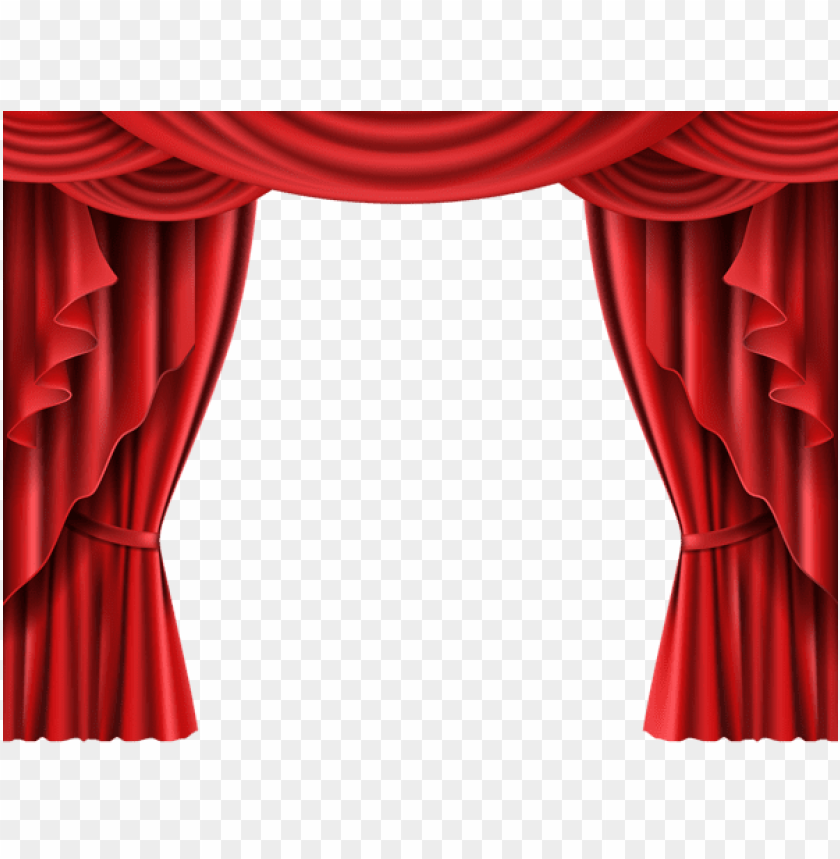 Download Red Theater Curtain Transparent Clipart Png Photo