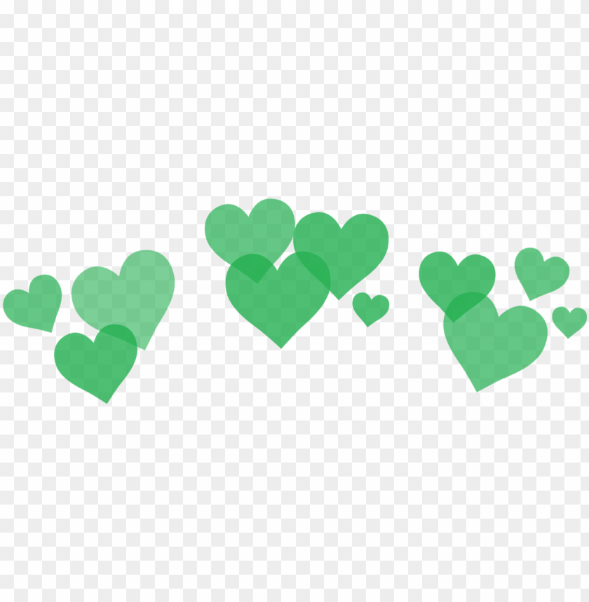 reen hearts png - transparent background heart crow PNG