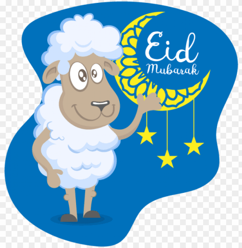 Reeting Of Eid Al Adha With Vector Sheep Eid Adha Eid Sheep Png Image With Transparent Background Toppng