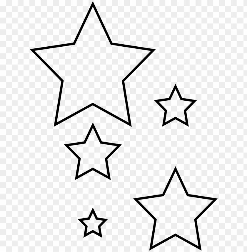 photo regarding Star Printable Template named revisited star minimize out printable template purple white - star