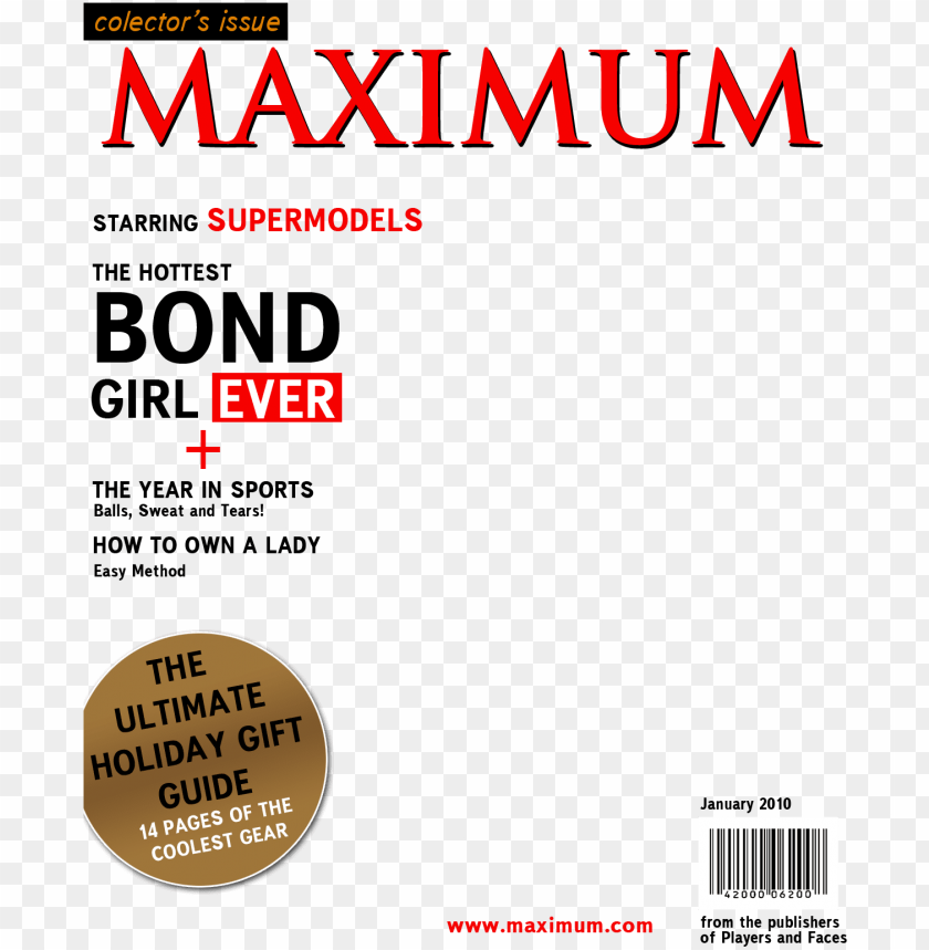 Create a magazine cover with an image of your own blank magazine.