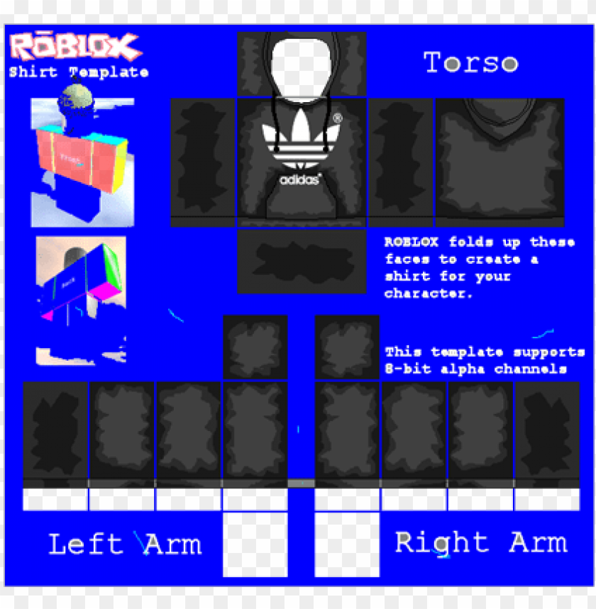 How To Get Free Roblox Shirt Templates Roblox Jacket Png Png Free Library Roblox Adidas Shirt Template Png Image With Transparent Background Toppng