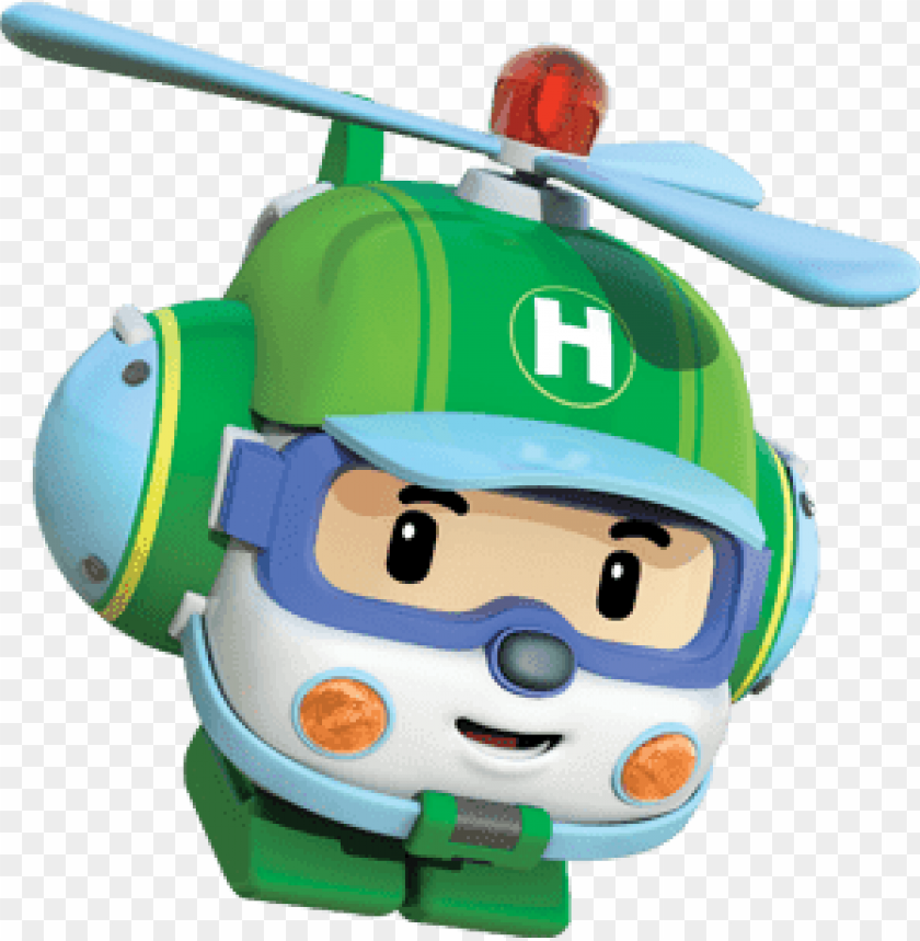 Download Robocar Poli Character Helly The Helpter Clipart