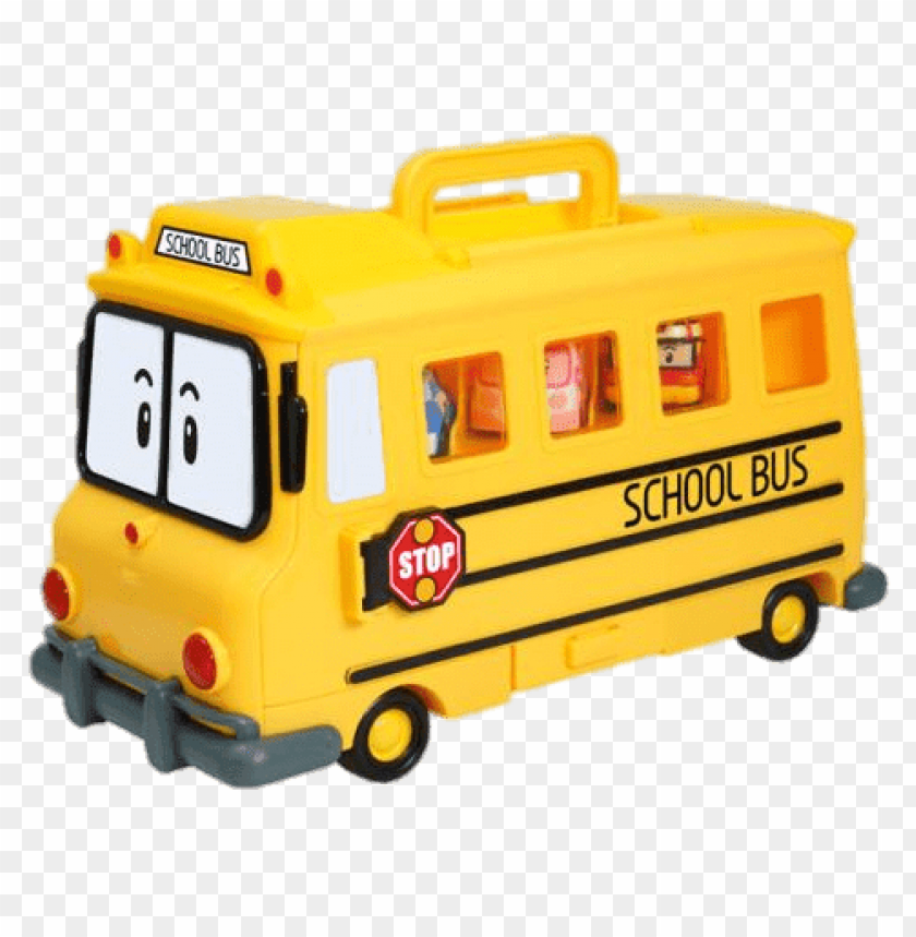 free PNG Download robocar poli character schoolb the school bus clipart png photo   PNG images transparent