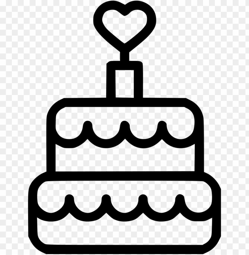 romantic heart cake dessert happy birthday comments - icon