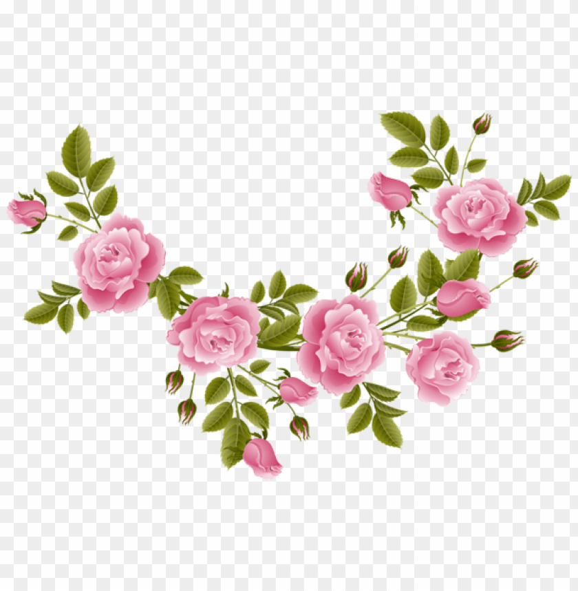 Download Rose Decoration Transparent Clipart Png Photo Toppng