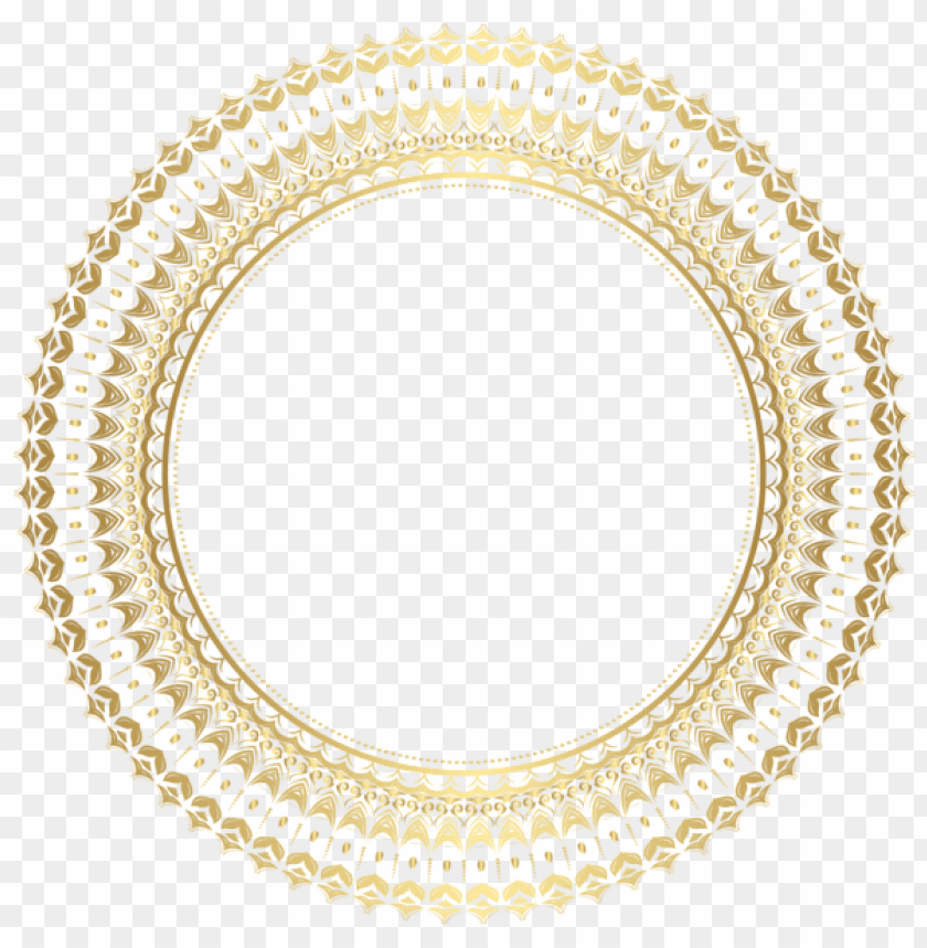 b31435fc7bc9 free PNG Download round gold border frame png clipart png photo PNG images  transparent