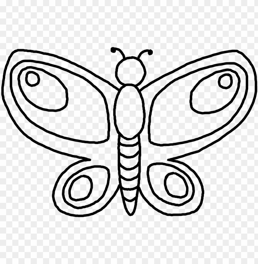 royalty free download butterfly drawing black and - butterfly clip