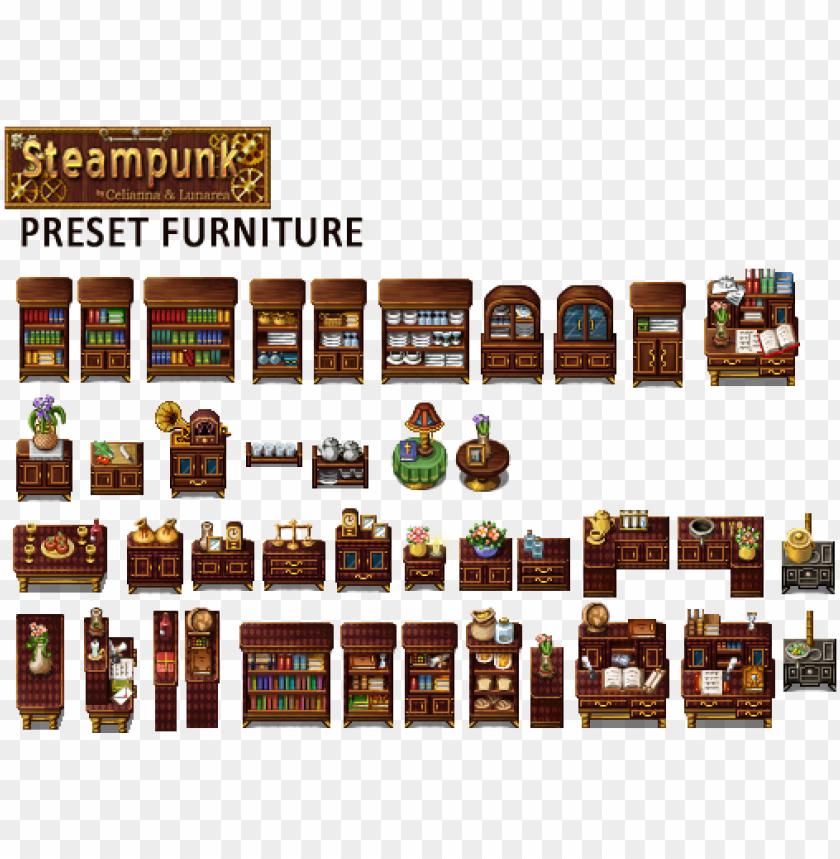 rpg maker steampunk tileset PNG image with transparent background