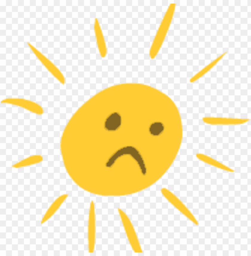 sad sun cartoon gif PNG image with transparent background | TOPpng
