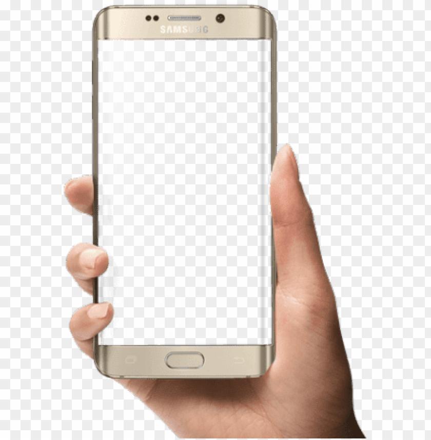 free PNG samsung mobile phone clipart frame png - mobile frame png in hand PNG image with transparent background PNG images transparent