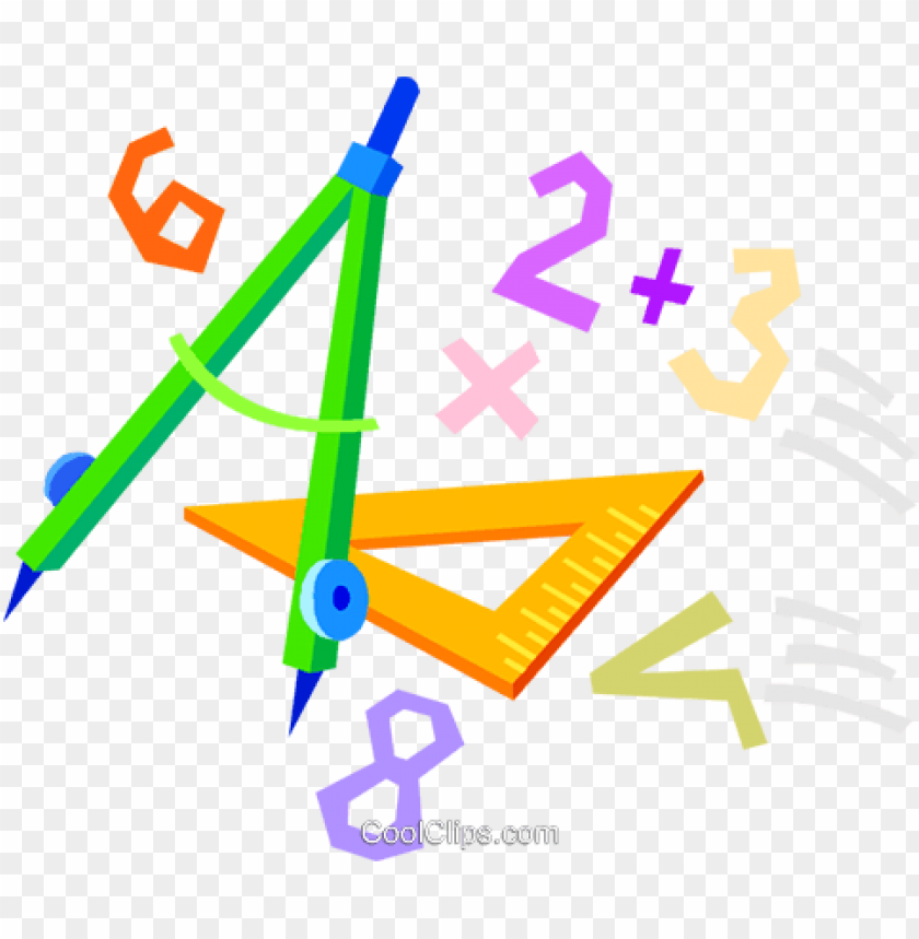 School Math Supplies Royalty Free Vector Clip Art Illustration Maths Png Image With Transparent Background Toppng
