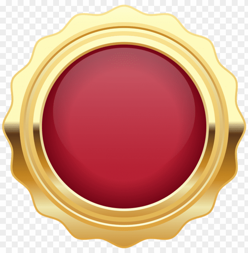 91d253befce7 free PNG Download seal badge red gold clipart png photo PNG images  transparent