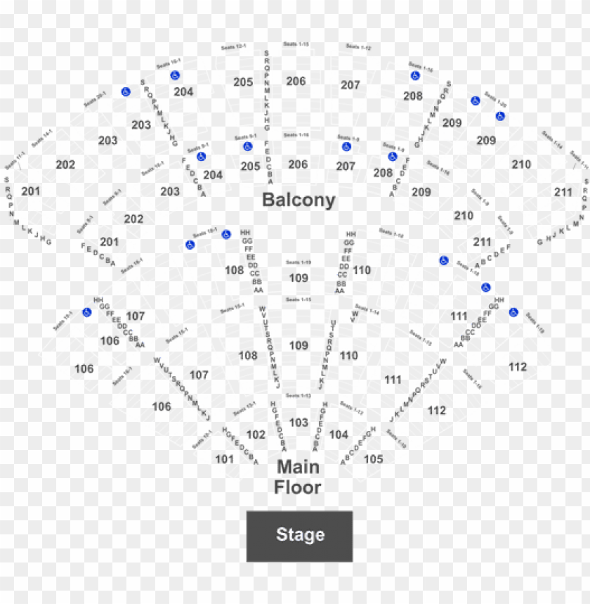Free Png Seat Number Rosemont Theater Seating Chart Image With Transpa Background Images