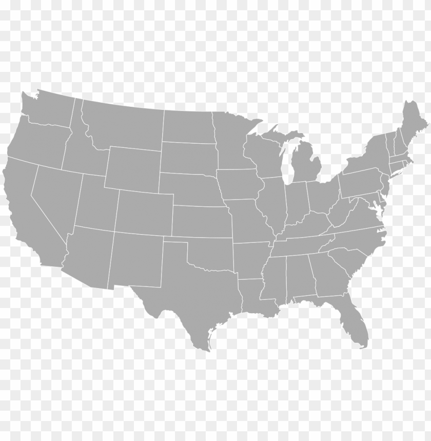 select your state - united states map gray PNG image with ...