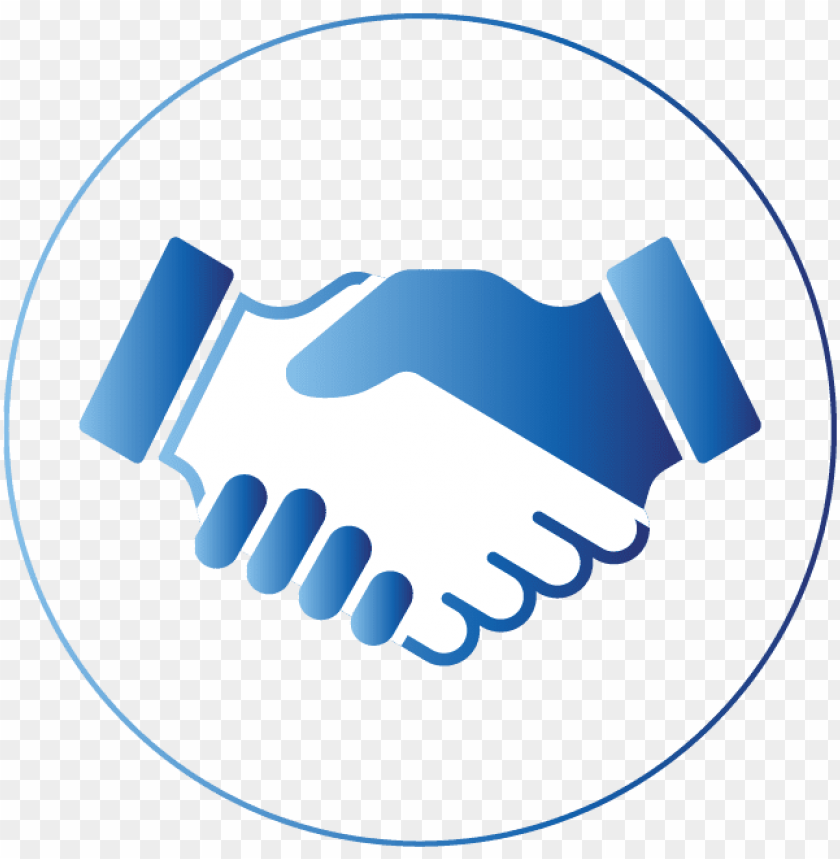 Download shaking hands - shaking hands icon blue png ...