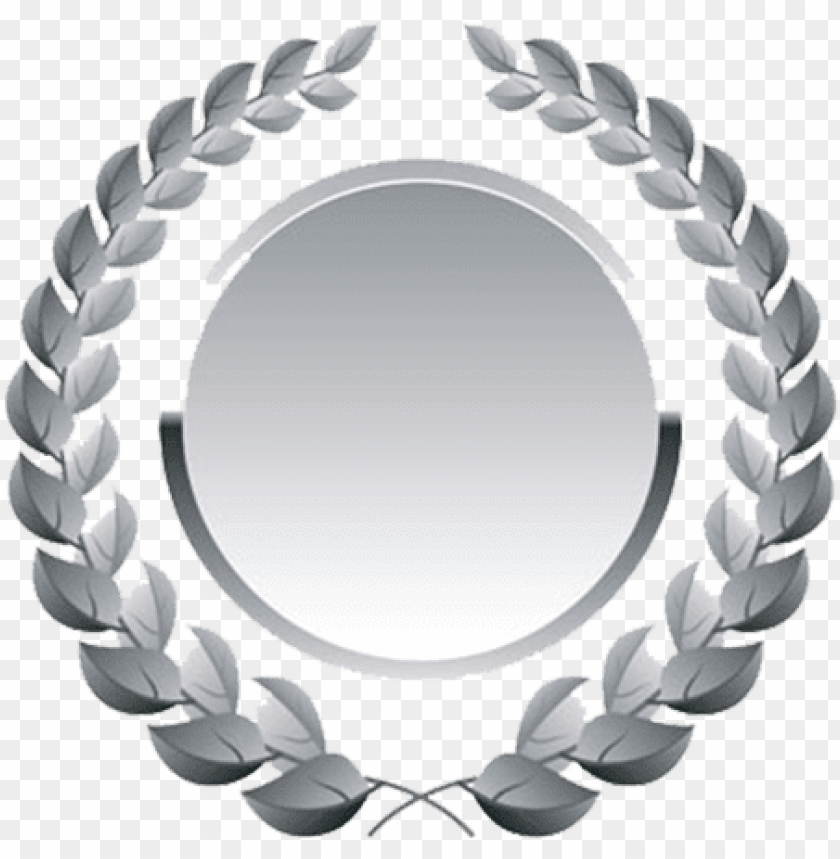 free PNG silver medal - laurel wreath vector PNG image with transparent background PNG images transparent