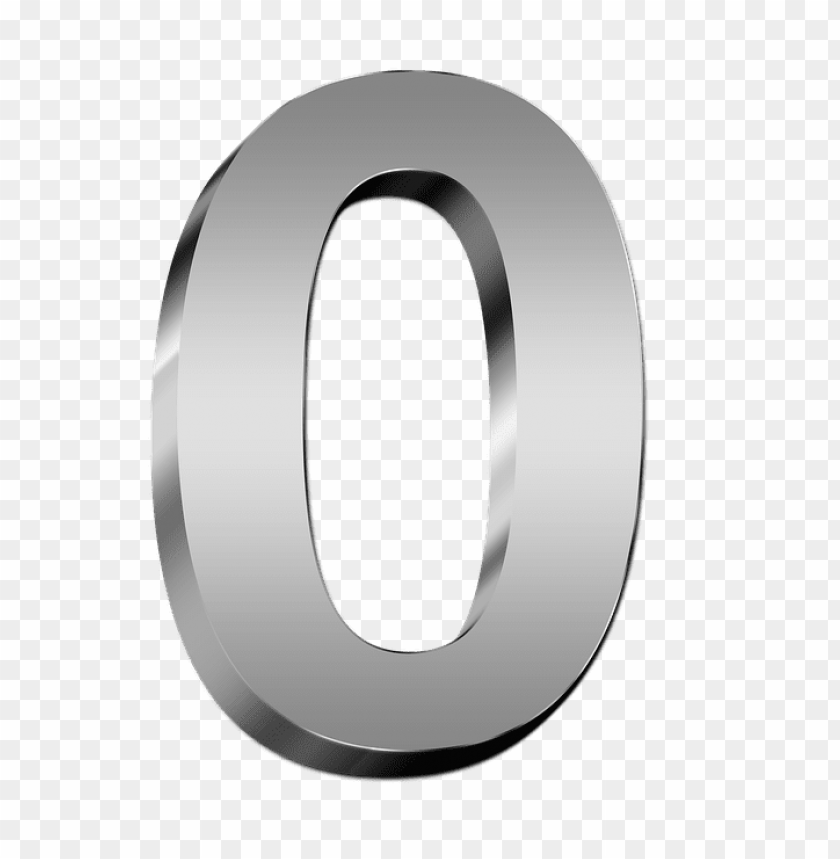 free PNG silver number 0 PNG image with transparent background PNG images transparent