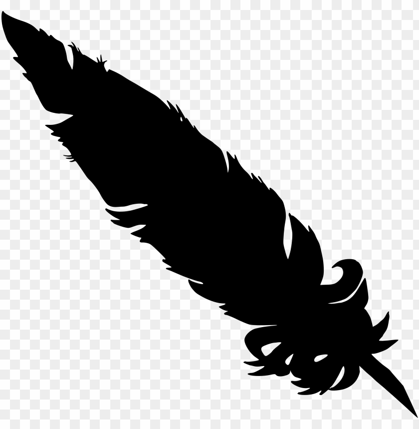 free PNG simple feather silhouette png - Free PNG Images PNG images transparent