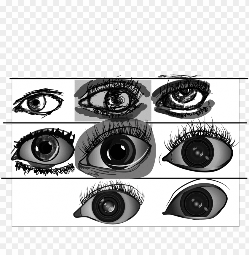 Download Sketching Eyes Digitally After A Few Weeks Please Crit Png