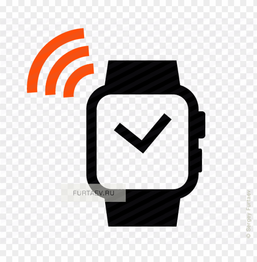 smartwatch with nfc vector icon banner royalty free - smart
