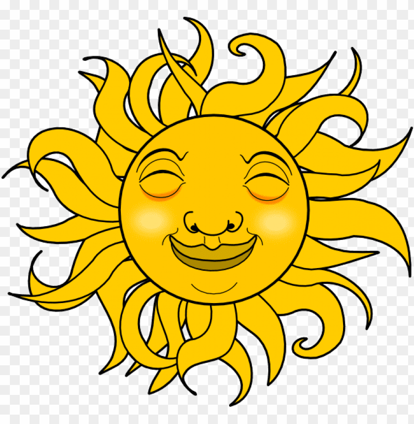 smiling sun svg s 600 x 568 px PNG image with transparent