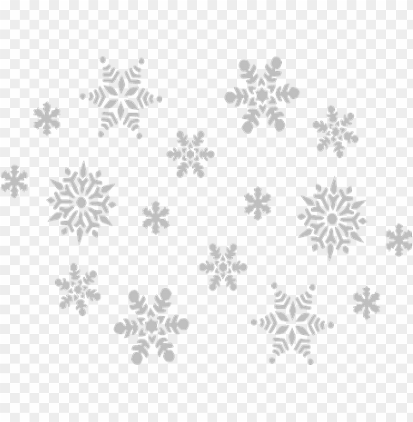 snowflake gray fall sky grey winter snow f - christmas snow flakes PNG image with transparent background@toppng.com