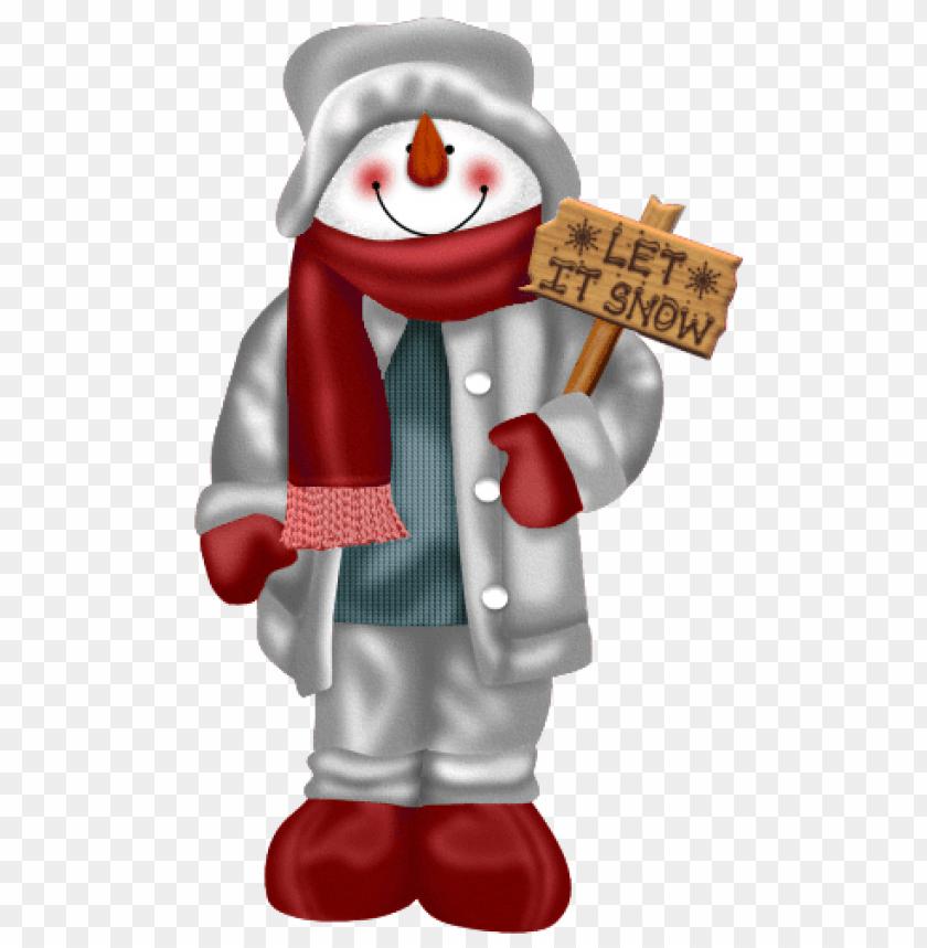 free PNG snowman let it snow png - Free PNG Images PNG images transparent