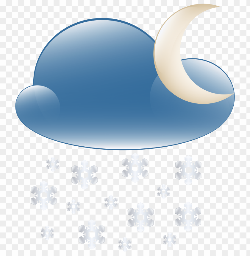 free png snowy cloud night weather icon PNG images transparent