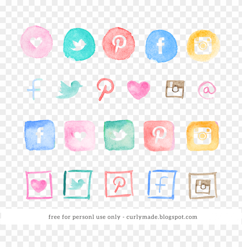 free PNG social media icons watercolor PNG image with transparent background PNG images transparent