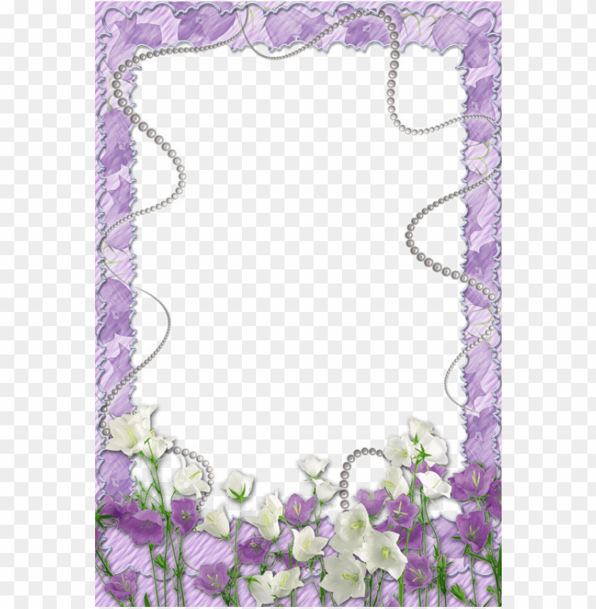 free PNG best stock photos soft purple transparent frame with flowers background PNG images transparent