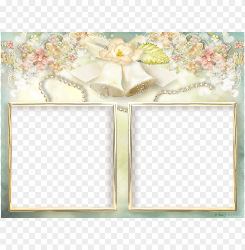 soft transparent double wedding frame background best stock