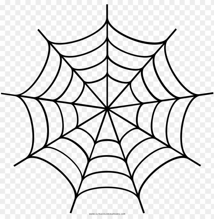 Spider Web Drawing Desenho De Teia De Aranha Para Colorir Png