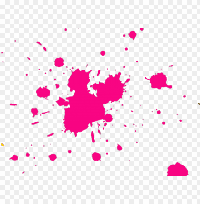 Splatter Clipart Hot Pink Paint Gun With Blood Png Image With