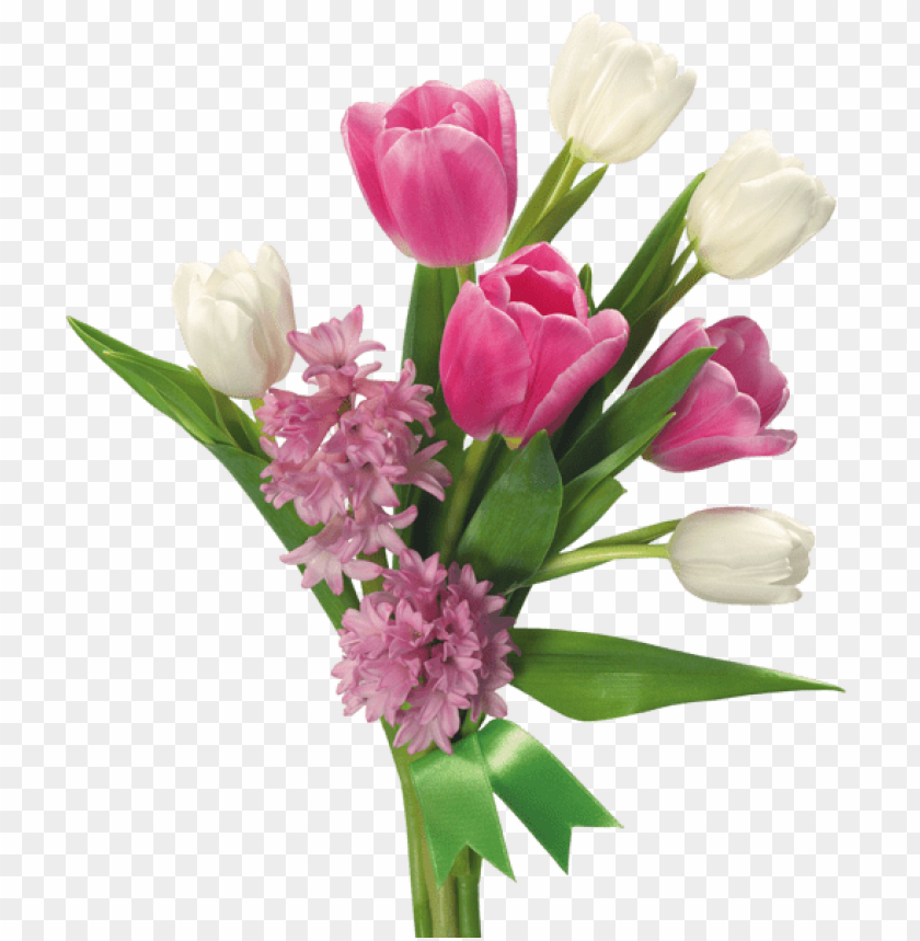 Download spring bouquet of tulips and hyacinths png images background@toppng.com
