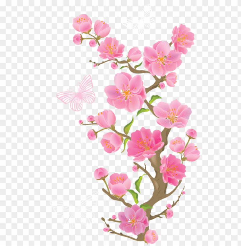 free PNG Download spring branch with butterfliespicture png images background PNG images transparent