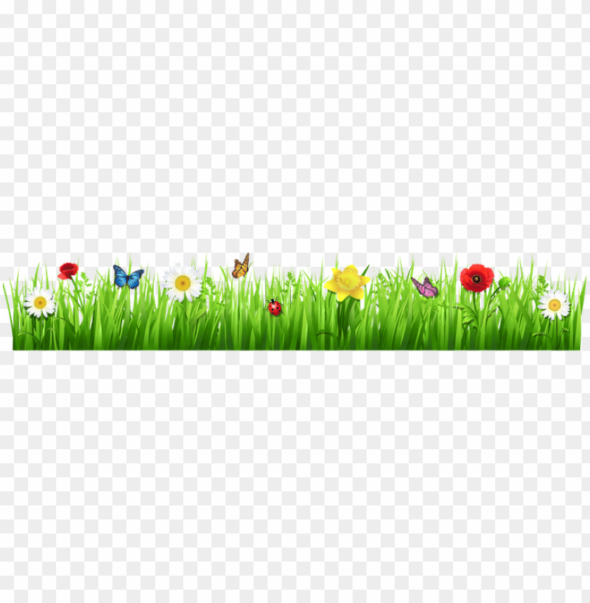 free PNG spring grass with flowers spring flowers clip art free - grass with flower PNG image with transparent background PNG images transparent