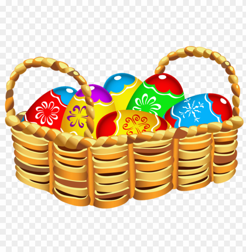 free PNG Download square basket with easter eggs png images background PNG images transparent