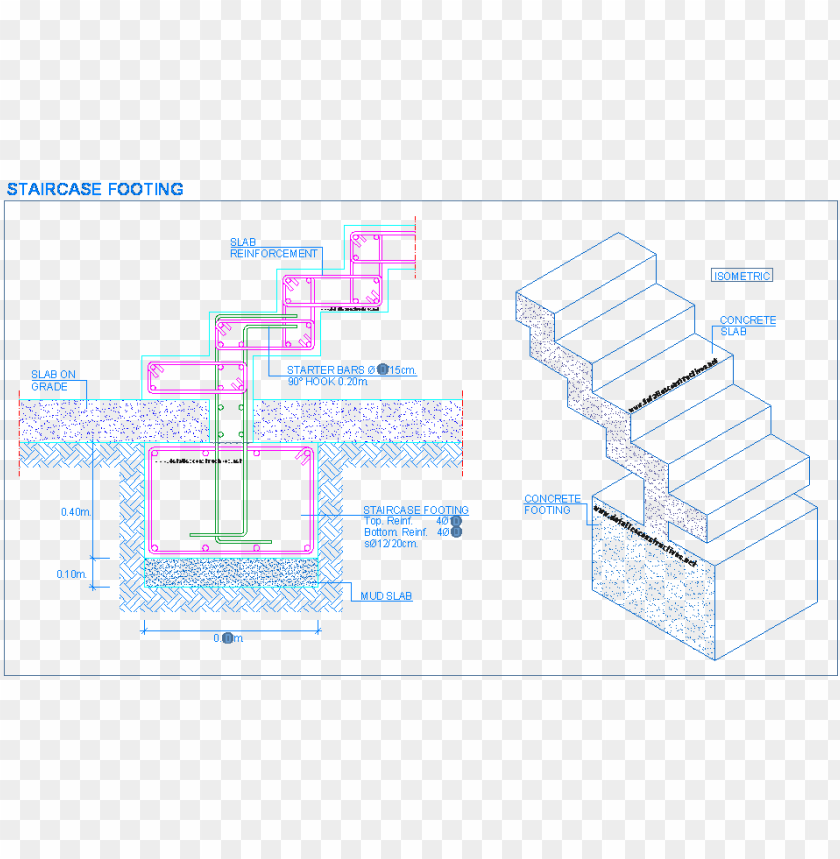free PNG stairs - concrete stair footing details PNG image with transparent background PNG images transparent
