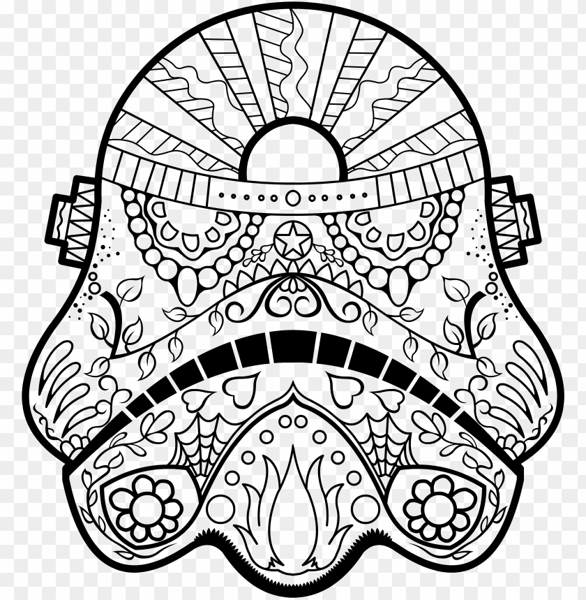 - Star Wars Coloring Page - Star Wars Drawings Coloring Pages PNG Image With  Transparent Background TOPpng