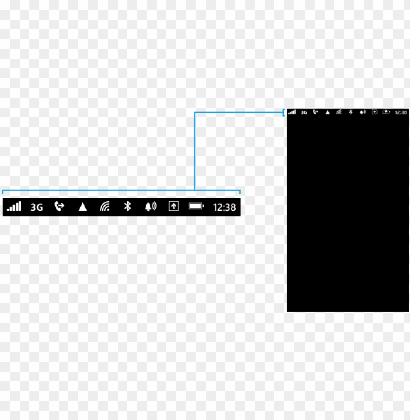 free PNG status bar png - cell phone status bar PNG image with transparent background PNG images transparent