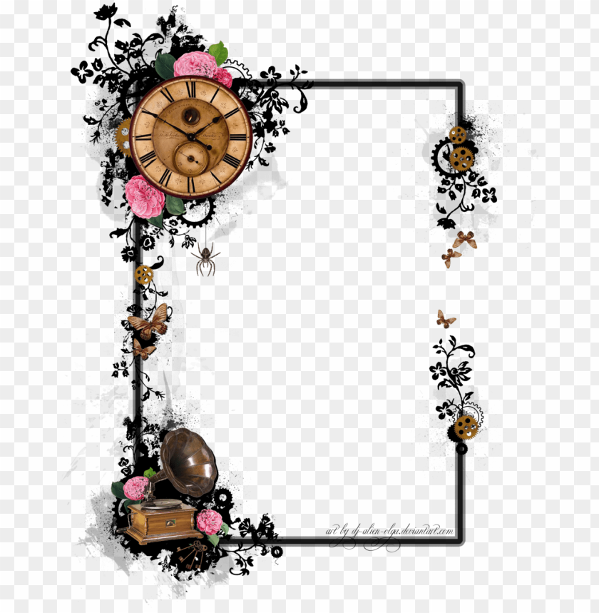 Steampunk Art Border Design Designs To Draw Wedding Steampunk Png Image With Transparent Background Toppng