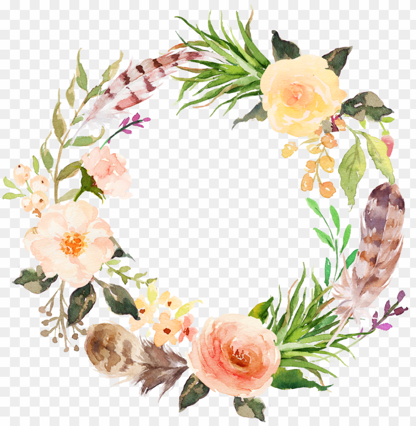 free PNG stock flower clip art aesthetic style floral wreath - floral wreath PNG image with transparent background PNG images transparent