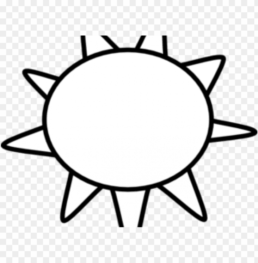 Sun Clipart Clipart Outline Sun Clipart Black And White